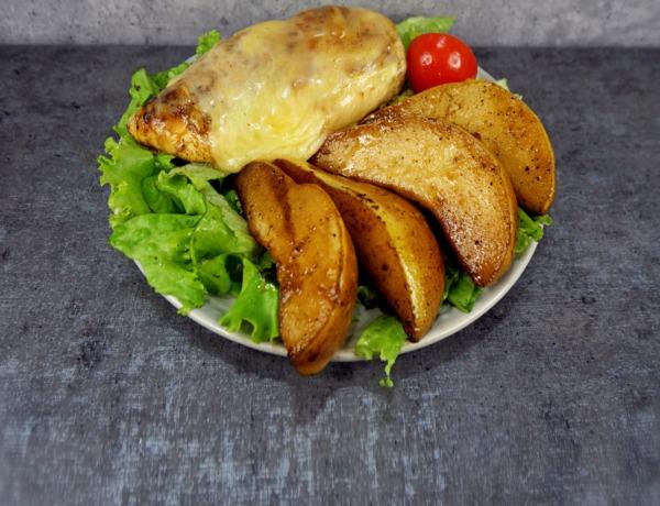 Smażony kurczak z serem i gruszką przepis