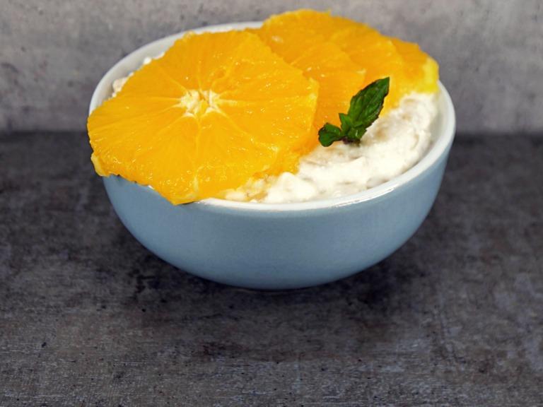 Ryż z twarogiem i pomarańczą przepis