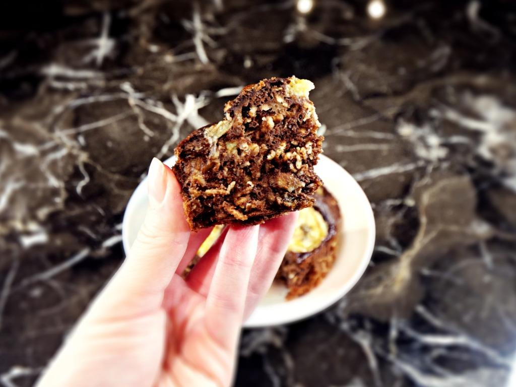 Pieczona owsianka o smaku czekoladowo-bananowym przepis