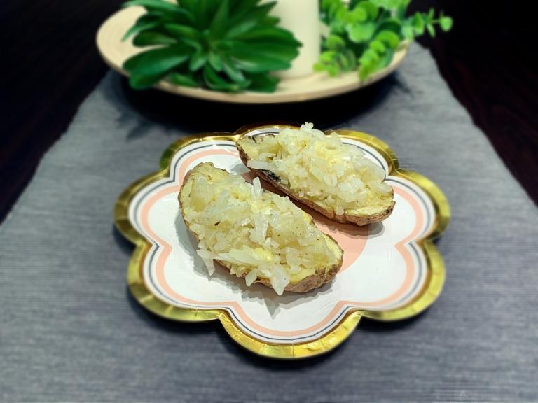 Faszerowany ziemniak z mikrofalówki