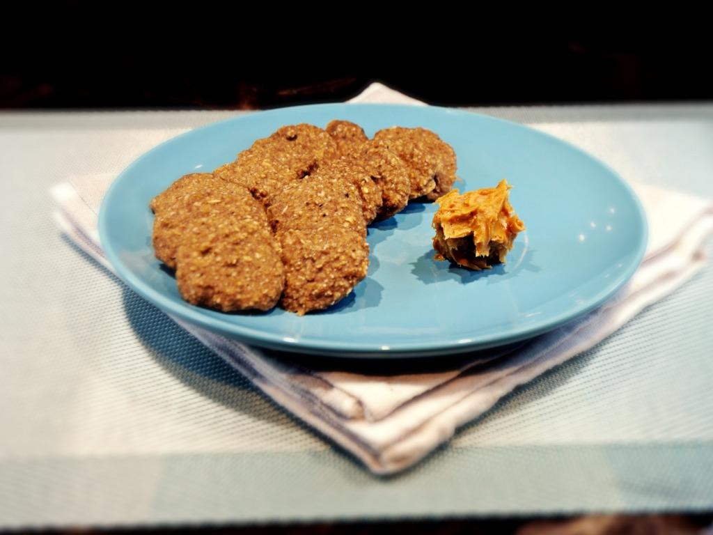 Mini ciastka owsiano-bananowe z masłem orzechowym przepis