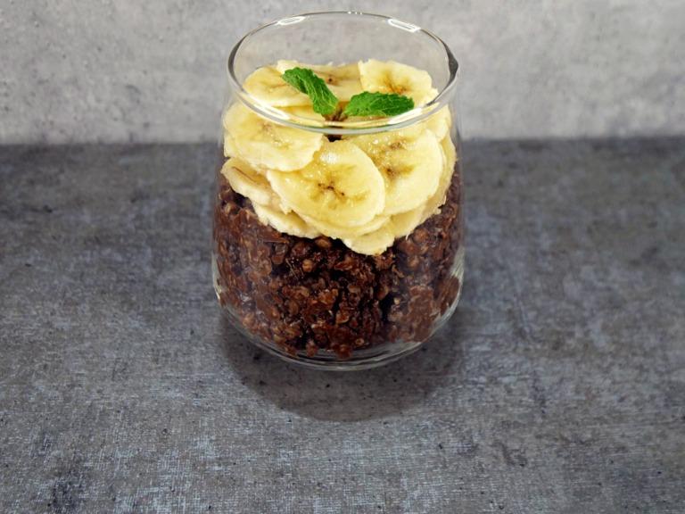Kasza gryczana z kakao i bananem przepis