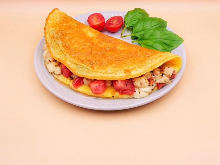 omlet caprese przepis